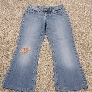 Limited Too Super Low Wide Leg Jeans